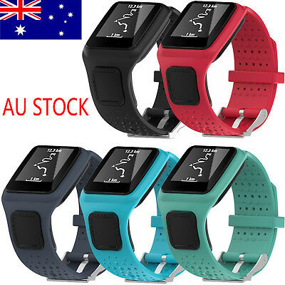 AU Soft Silicone Watch Band Strap for TomTom Runner Cardio/Multi-Sport GPS Watch