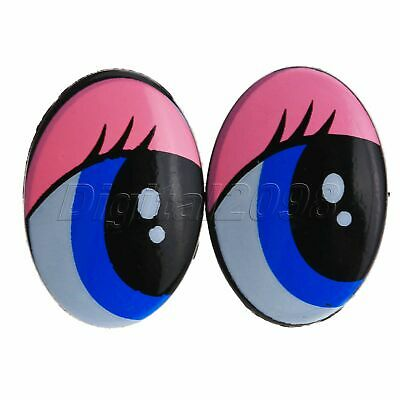 5/25Pairs For Toy Puppets Doll Bear Making DIY Craft Plastic Safety Oval Eyes