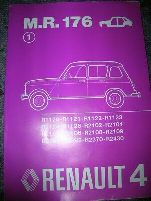 Manuel Reparation Mr 176 Renault 4 (Origine Renault)