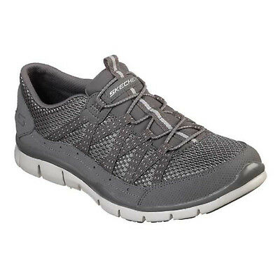 191ac92c2149f0 Skechers Gratis - Strolling Trainers 22823 Womens Faux Leather Elastic Shoes