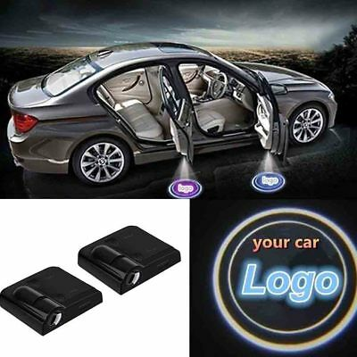 Wireless Car Door Projection Laser Courtesy Light Magnet Sensor Welcome Lamp Sma