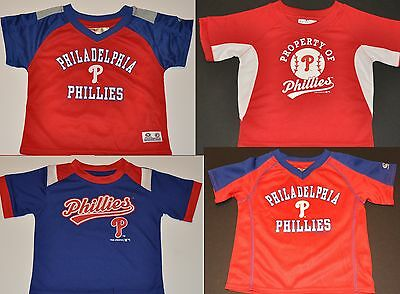 NWOT Philadelphia Phillies Boys Toddler Infant Jersey Shirt Cap MLB Polo Hat f829fa140ee