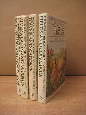 4 The Natural History of Britain books Mountains Rivers Towns Gardens Fields