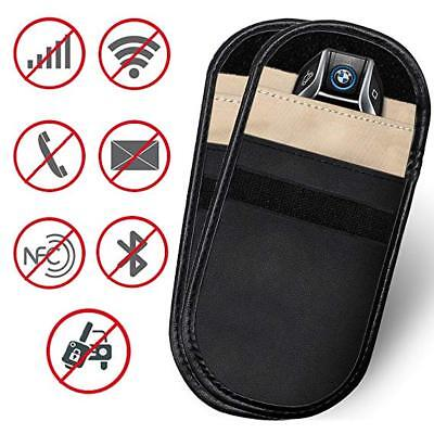Car Key Signal Blocker Faraday Cage Fob Pouch Keyless RFID Blocking Bag Case x 2