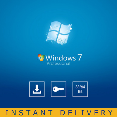 Windows 7 Professional Pro 32/64-bit License Instant Delivery English