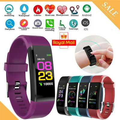 Fitness Smart Watch Activity Tracker Women Men Fit-bit Android iOS Heart Rate UK