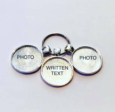 Personalised photo keyring with EXTRA photo disc added (3 discs in total)