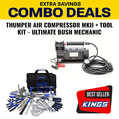 Thumper 12v Air Compressor 160L/M 150PSI + Adventure Kings Tool Kit - Ultimate B
