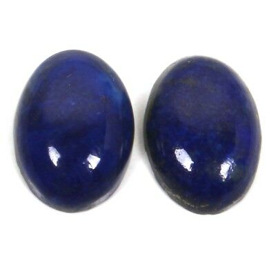 Natural LAPIS LAZULI 14x10 mm 1 Pair Oval Cabochon Gemstone 11.50 Cts S-38222