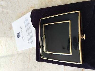 ESTEE BLACK AND GOLD Pressed Powder Compact Lucidity As NEW