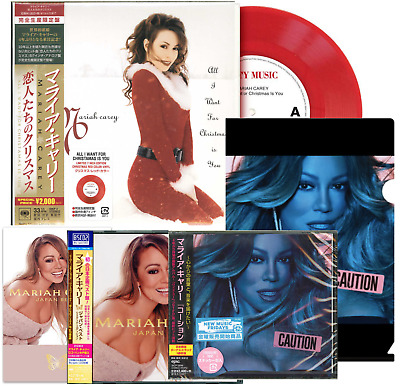 Caution Cd+Clear File+Sticker+ Japan Best+Handkerch+Vinyl+Postcard Mariah Carey