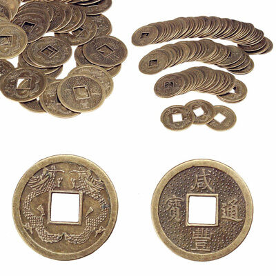 100X Feng Shui Lucky Money Coins Emperor Fortune Wealth 25mm Chinese Dynasty