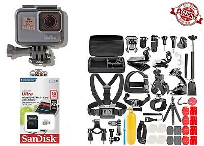 GoPro HERO 5 Black Edition TouchScreen + 50 Pcs Sports Accessories Kit Bundle!