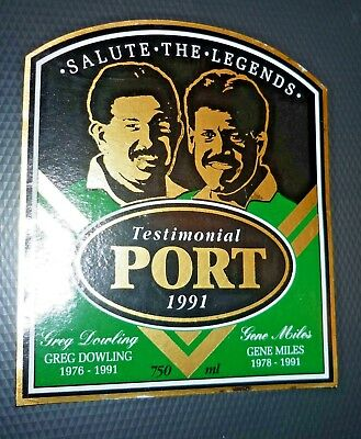 Collectable Port labels - ''Salute the Legends'' Testimonal 1981 Port label MINT