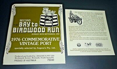 Collectable Port labels -  1978 Bay to Birdwood Run Vintage Port label MINT