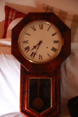 American Wall Mounted Pendulum Clock with Chime on the hour