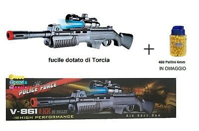 Fucile d'Assalto Giocattolo Spara Pallini 6mm Air Colt M4 Inspired Mitra Cosplay