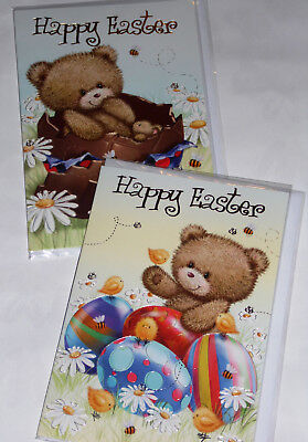 EASTER CARDS X 12, JUST 25p, 2 DESIGNS, WRAPPED, FOILED, EC17