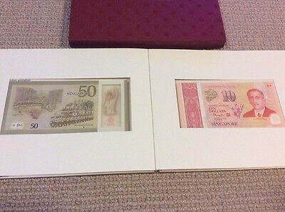 Singapore SG50 Uncirculated Notes 1x$50, 5x$10 With Box