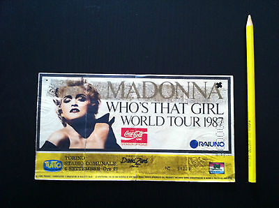 "MADONNA Biglietto Ticket concert ""Who's that girl world tour"" ITALY 1987  rare"