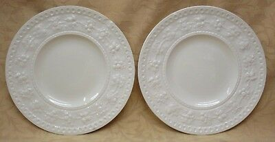 "2 UNUSED Wedgwood Wellesley Embossed 6.5"" Side Plates - more available"