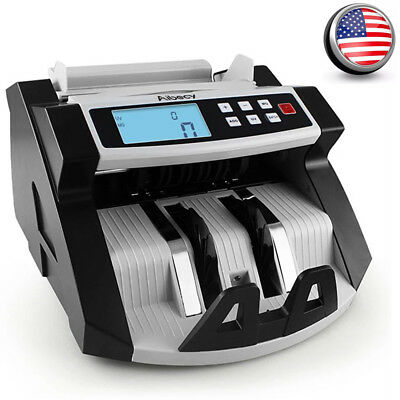 Bill Counter Digital Cash Money Value Counterfeit Detector LCD Display UV N5I9