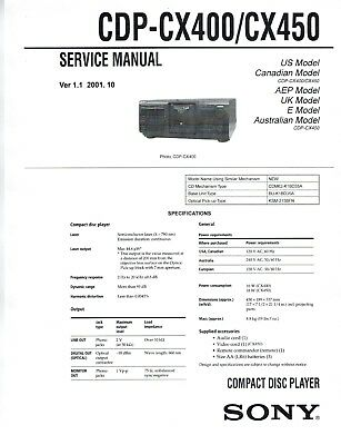 Sony cdp-cx455 sm service manual download, schematics, eeprom.