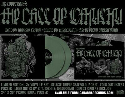 H. P. Lovecraft - The Call Of Cthulhu Green Vinyl LP X 2 Cadabra Records Limited