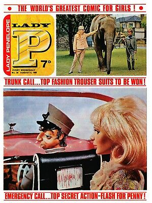 LADY PENELOPE 29 1966  Man from Uncle/ Monkees / Thunderbirds Stingray related