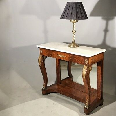 Antique French mahogany Empire console table