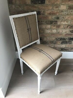 Vintage French Square Louis Xv Chair Deconstructed Look