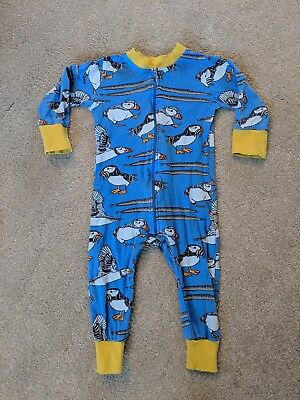 Duns Blue Puffin Zipsuit 80