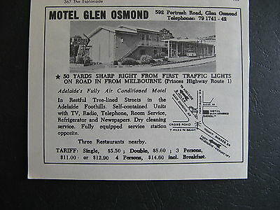 Motel Glen Osmond  1966 Advertising