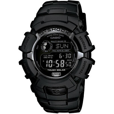 Casio 46.4mm Men's G-Shock Water-Resistant 200M Solar Atomic Watch, Black