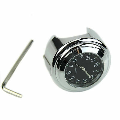 "Motorcycle ATV Mount Waterproof Dial Clock Quartz Watch Gauge For 7/8"" Handlebar"