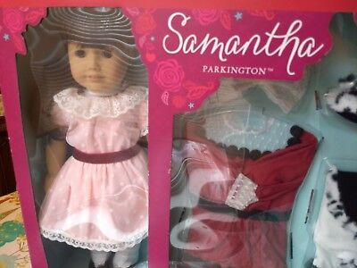 NEW American Girl Doll SAMANTHA Holiday Party DRESS Outfit COAT Accessories BOOK