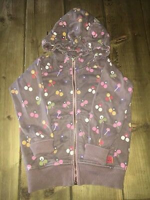 Joules Girls Floral Zip Up Hoodie With Ears Age 3 Yrs