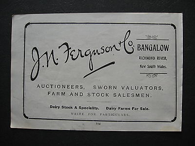 J N Ferguson Auctioneer Bangalow