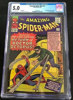 Amazing Spider-Man 11 CGC 5.0! 2nd Appearance Of Dr. Octopus! Off-White Pages!