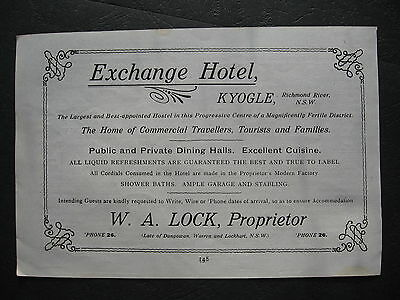 Exchange Hotel Kyogle  W A Lock