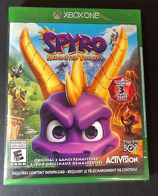 Spyro Reignited Trilogy [ 3 Games Remastered ]  (XBOX ONE) NEW