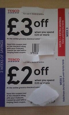 Tesco Vouchers Money Off Save £7.00 On 3 Weekly Shop's In Store Or Online.