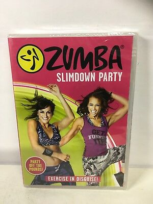 Zumba Slimdown Party Fitness Dance Workout DVD NEW & SEALED . Freepost In Uk