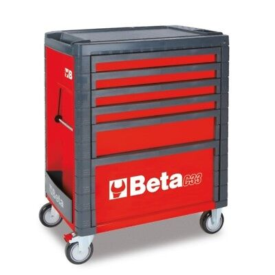 Beta Tools Special! Italy C33/6 Rollcab Red 6 Drawer Toolbox Roller Cabinet