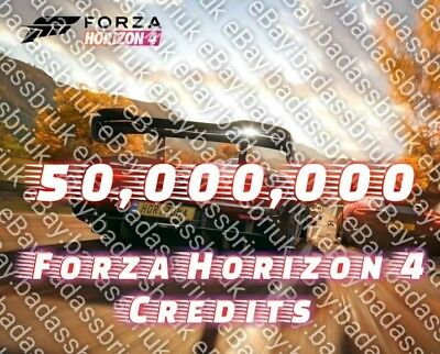 50 Million Fh4 Forza Horizon 4 Credits For Xbox One & Pc - Best Deal On Ebay!!!
