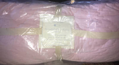 New~Pottery Barn Kids Washed Velvet Collection Nursery Crib Bumper~Pink