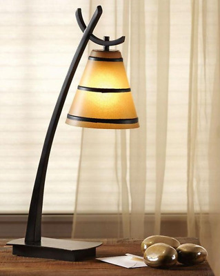 Kenroy Home Wright Oil Rubbed Bronze Table Lamp Art Vintage Unique
