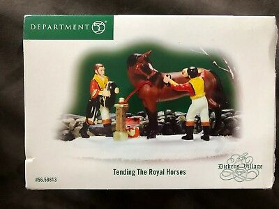 DEPT 56 Dickens' Village Tending the Royal Horses Retired 56.58813 Accessory NIB