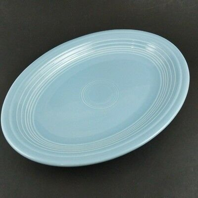 """Fiesta Periwinkle Blue Oval Serving Platter 11"""" Homer Laughlin Table Tray Plate"""