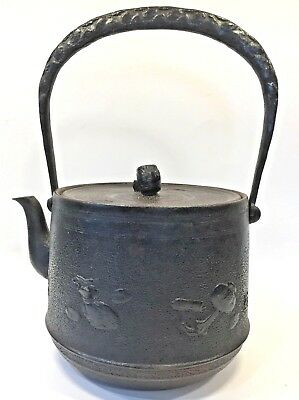 Vintage Cast Iron Tea Pot Teapot Asian Antique Old Heavy